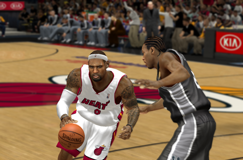 LeBron James vs. Kawhi Leonard in NBA 2K14 PC