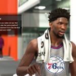 Joel Embiid in NBA 2K18's MyGM