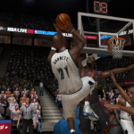 Kevin Garnett with the Freestyle Superstars shot in NBA Live 06