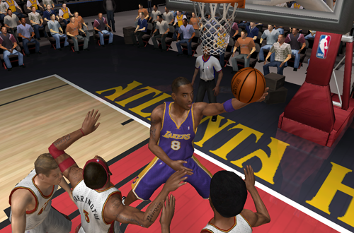 Kobe Bryant with the Freestyle Superstars layup in NBA Live 06