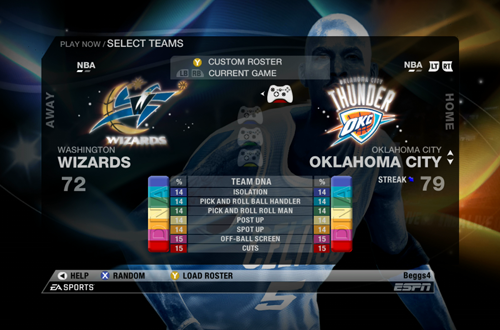 Oklahoma City Thunder in NBA Live 09