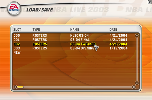 Tweaked Roster for NBA Live 2003