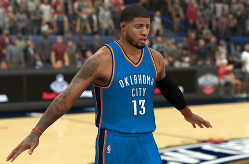 Paul George on the Thunder in SkillzFromThe6's Roster for NBA 2K17 PS4