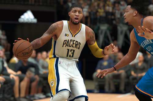 Paul George, the most recent basketball game cover player to change teams.