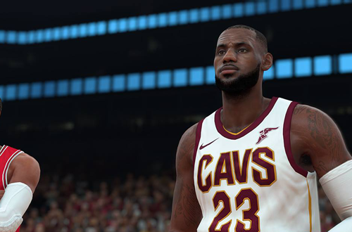 LeBron James in NBA 2K18