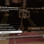 Quick Pick Play Menu Option in NBA Live 08