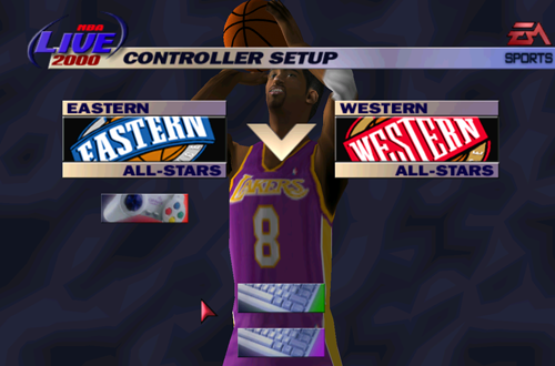 East vs. West in NBA Live 2000