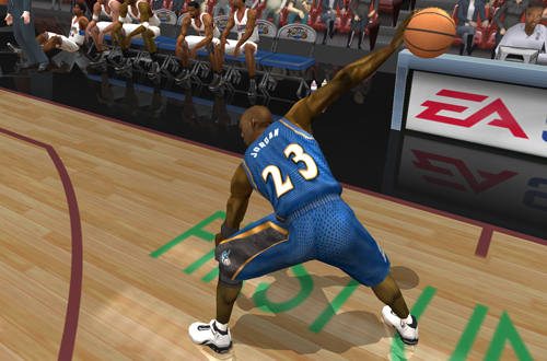 Triple Threat Freestyle Control in NBA Live 2003