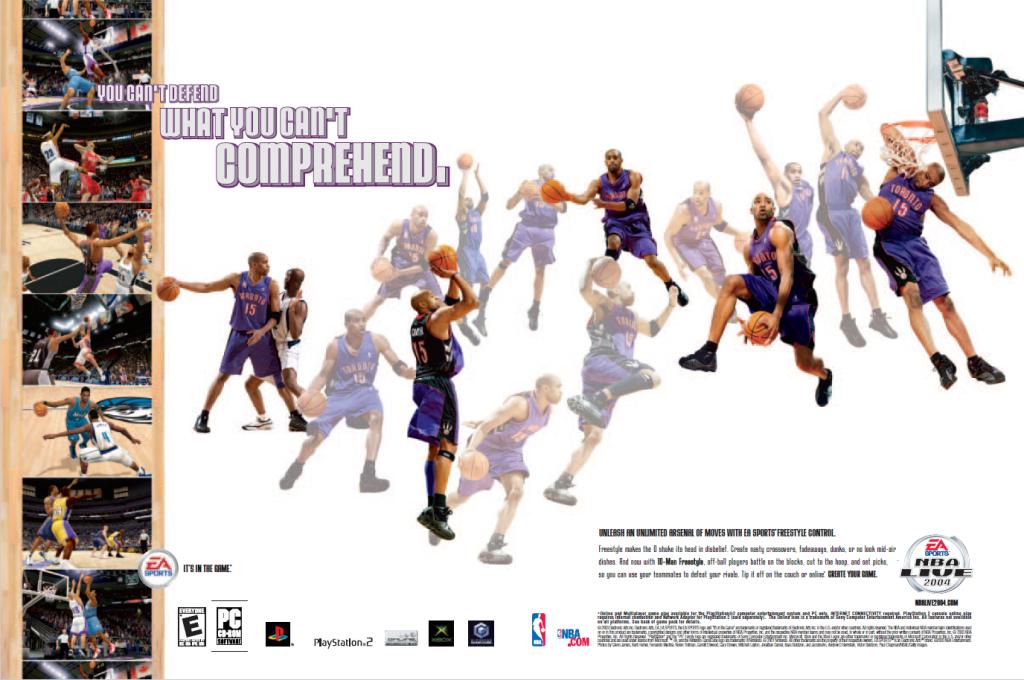 NBA Live 2004 Print Ad