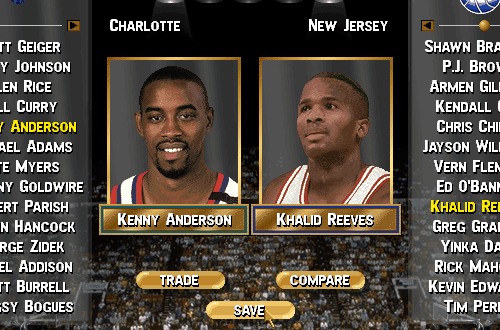 Roster Exporting in NBA Live 96