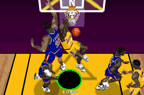 Shaquille O'Neal in NBA Live 97