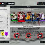 MyTEAM Lineup in NBA 2K17