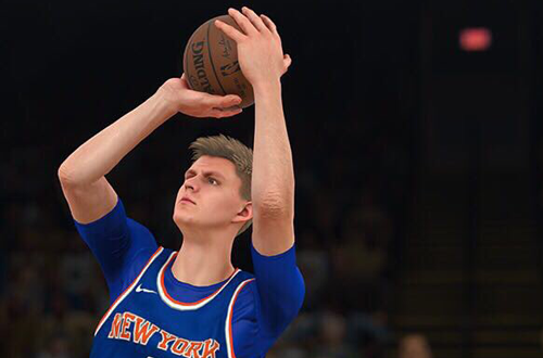 Future franchise player Kristaps Porzingas in NBA 2K18