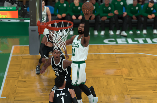 Kyrie Irving on the Boston Celtics in NBA 2K18
