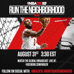 NBA 2K18: Run The Neighborhood Event Poster