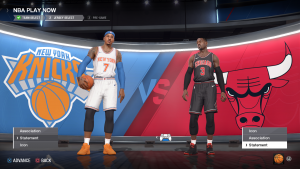 Bulls & Knicks Statement Jerseys in NBA Live 18