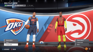 Thunder & Hawks Statement Jerseys in NBA Live 18