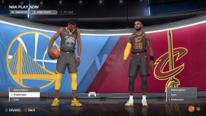 Warriors & Cavaliers Statement Jerseys in NBA Live 18