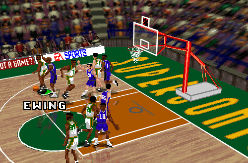 Patrick Ewing in the Complete Update for NBA Live 96