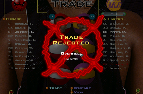 Trade Override in GM Mode