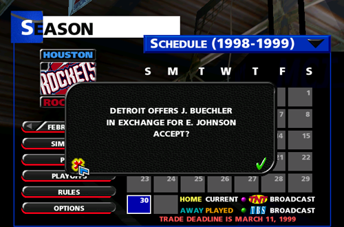 Trade Offer in NBA Live 99