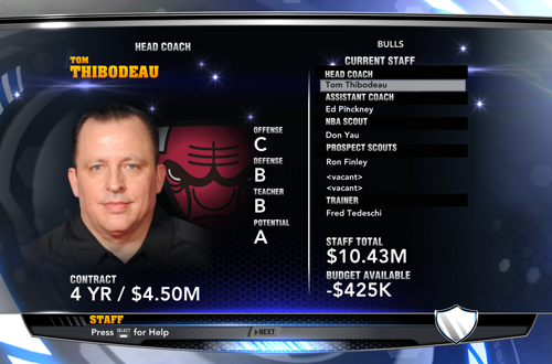 Staff in The Association (NBA 2K14)