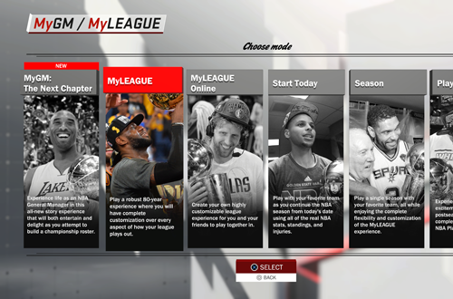 Choosing a Franchise Mode (NBA 2K18)