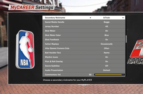 Secondayr Nicknames in MyCAREER (NBA 2K18)