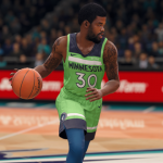 Aaron Brooks dribbling the basketball (NBA Live 18)