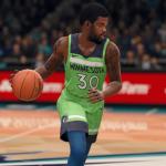 Aaron Brooks dribbling the basketball (NBA Live 18)