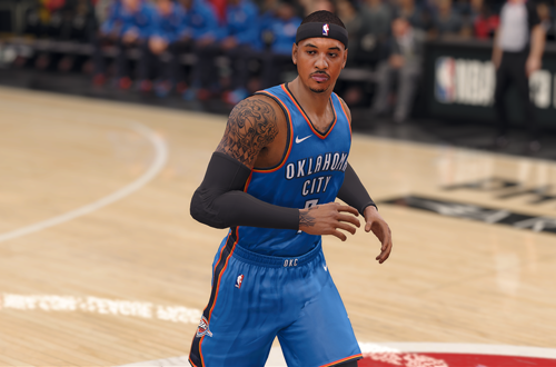 Carmelo Anthony in OKC in NBA Live 18