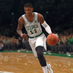 Kyrie Irving dribbles the basketball in NBA Live 18