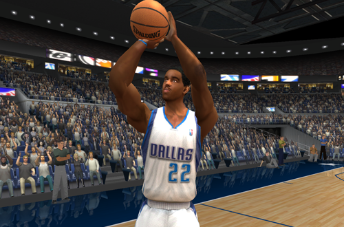 Michael Redd (in Dallas) shoots in NBA Live 2003
