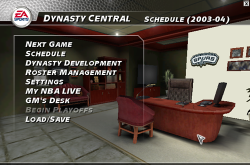 Dynasty Mode Central in NBA Live 2004