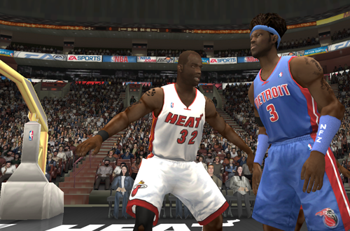 Shaquille O'Neal on the Heat in NBA Live 2004