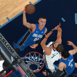 Aaron Gordon dunks the basketball (NBA 2K18)