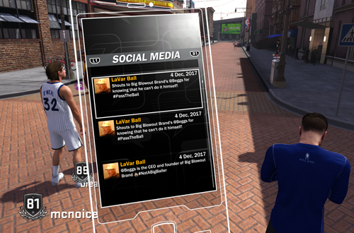 LaVar Ball Tweet in MyCAREER (NBA 2K18)