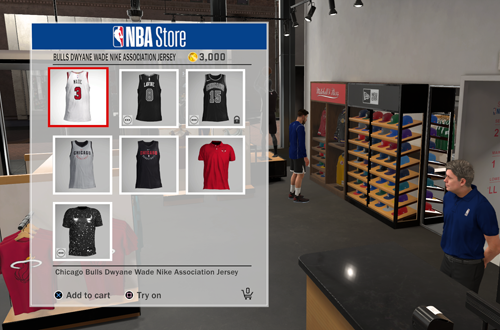 NBA Jersey for 3000 Virtual Currency (NBA 2K18)