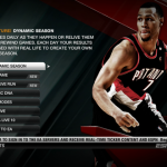 Dynamic Season in the Main Menu (NBA Live 10)