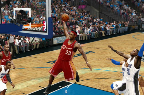 LeBron James Dunking (NBA Live 10)