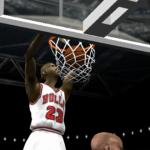 Michael Jordan on the Bulls in NBA Live 2002