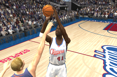 Glen Rice, one of the best players of the mid 90s, in NBA Live 2004