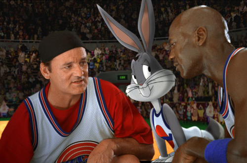 Bill Murray, Bugs Bunny & Michael Jordan in Space Jam