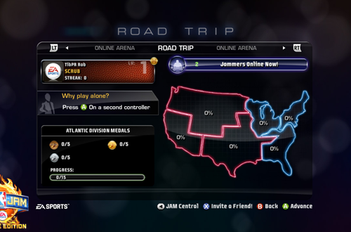 Road Trip revolutionised campaign modes in arcade basketball games.