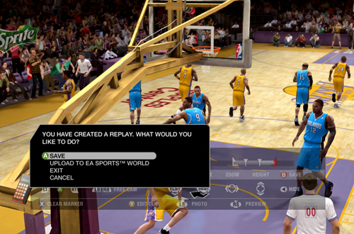 Replay Editing in NBA Live 09