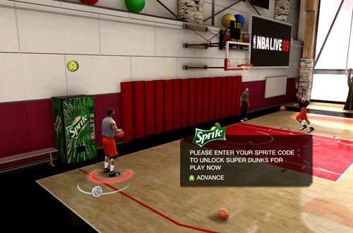 Sprite Vending Machine in NBA Live 09