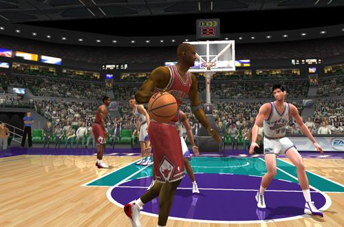 Michael Jordan vs. John Stockton in 1998 (NBA Live 2003)