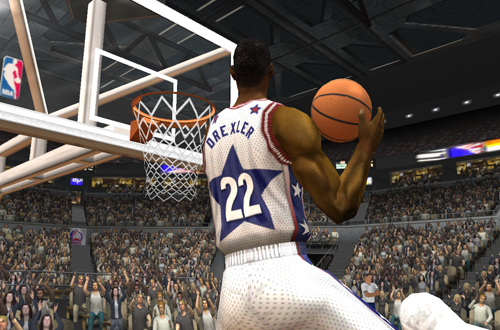 Clyde Drexler, one of the quiet additions to the Legends Pool (NBA Live 2003)
