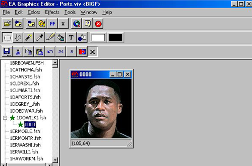 EA Graphics Editor Preview Screenshot