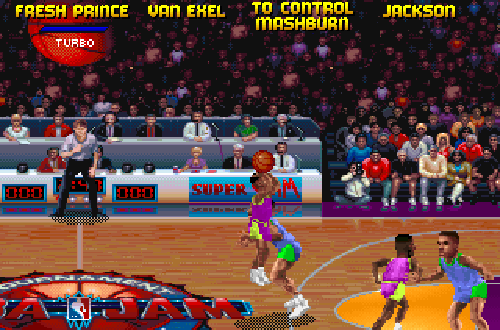 Secret Characters in NBA Jam included Fresh Prince (Will Smith)